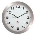 Nástěnné hodiny Standard - plastové, průměr 38 cm, stříbrné