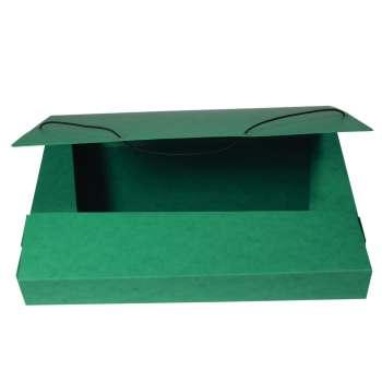 Box prešpánový na spisy s gumičkou A4, zelený