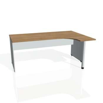 Psací stůl Hobis GATE GE 1800 levý, višeň/šedá