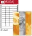 Lesklé etikety S&K Label - bílé, 48,5 x 25,4 mm, 4 000 ks