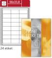 Lesklé etikety S&K Label - bílé, 66 x 33,8 mm, 2 400 ks