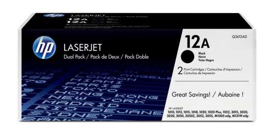 Toner HP Q2612AD/12A - černá, dvojbalení