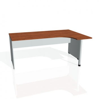 Psací stůl Hobis GATE GE 1800 levý, calvados/šedá