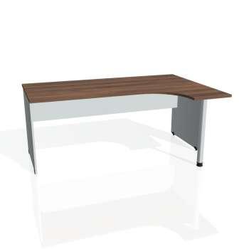 Psací stůl Hobis GATE GE 1800 levý, ořech/šedá