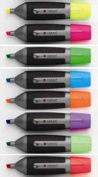 Zvýrazňovač Foray plochý, sada 8 barev, 8 ks