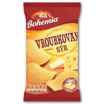 Bohemia Chips - vroubkované, sýrové, 75 g