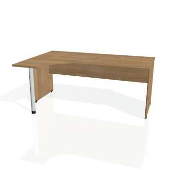 Psací stůl Hobis GATE GE 1800 pravý, višeň/višeň