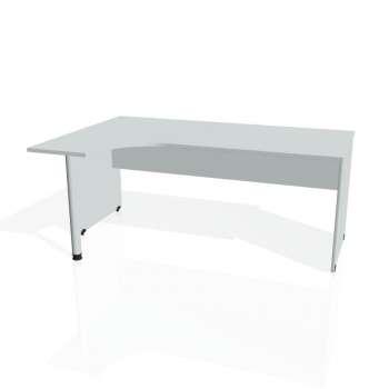 Psací stůl Hobis GATE GE 1800 pravý, šedá/šedá