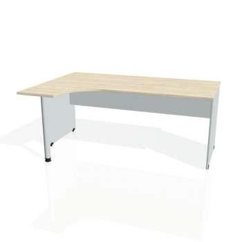 Psací stůl Hobis GATE GE 1800 pravý, akát/šedá