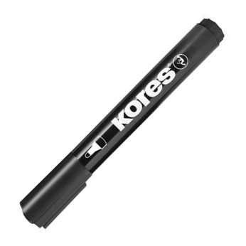 Permanentní popisovač Kores - černý, kulatý hrot