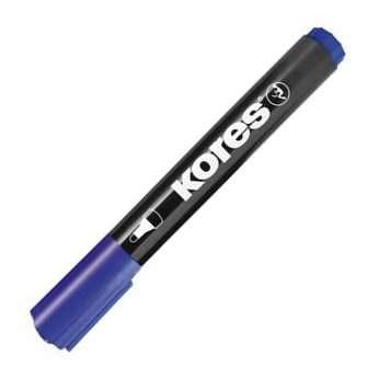 Permanentní popisovač Kores - modrý, kulatý hrot