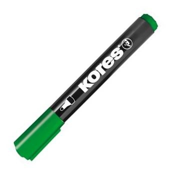 Permanentní popisovač Kores - zelený, kulatý hrot