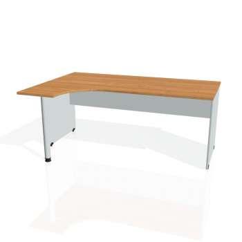 Psací stůl Hobis GATE GE 1800 pravý, olše/šedá