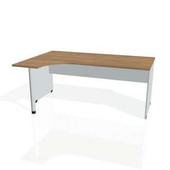 Psací stůl Hobis GATE GE 1800 pravý, višeň/šedá
