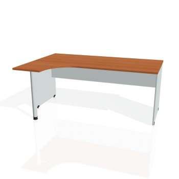 Psací stůl Hobis GATE GE 1800 pravý, třešeň/šedá