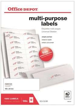 Samolepicí etikety - 105,0 x 35,0 mm, 1600 etiket