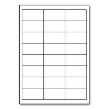 Samolepicí etikety - 64,6 x 33,8 mm, 2400 ks, pravoúhlé