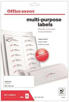 Samolepicí etikety - 99,0 x 38,0 mm, 560 etiket