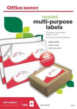 Samolepicí etikety recyklované - 105,0 x 148,0 mm, 400 ks