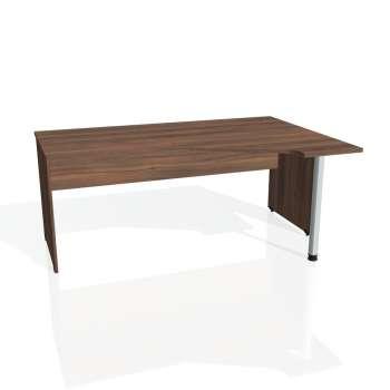 Psací stůl Hobis GATE GEV 1800 levý, ořech/ořech