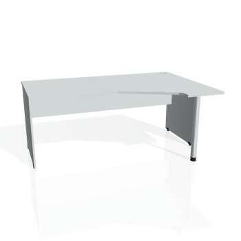 Psací stůl Hobis GATE GEV 1800 levý, šedá/šedá
