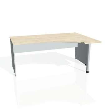 Psací stůl Hobis GATE GEV 1800 levý, akát/šedá