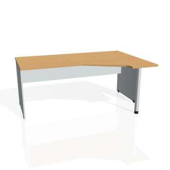 Psací stůl Hobis GATE GEV 1800 levý, buk/šedá