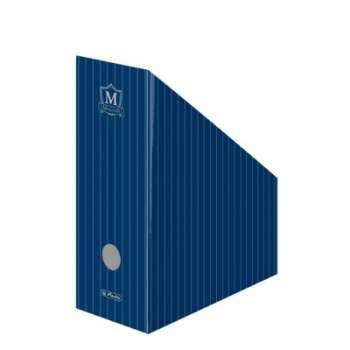 Stojan na časopisy Montana, modrý, šíře hřbetu 11,5 cm