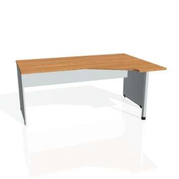 Psací stůl Hobis GATE GEV 1800 levý, olše/šedá
