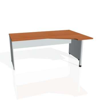 Psací stůl Hobis GATE GEV 1800 levý, třešeň/šedá