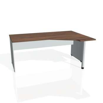 Psací stůl Hobis GATE GEV 1800 levý, ořech/šedá