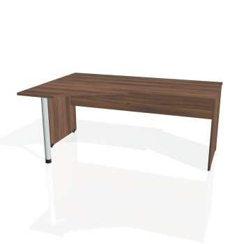 Psací stůl Hobis GATE GEV 1800 pravý, ořech/ořech