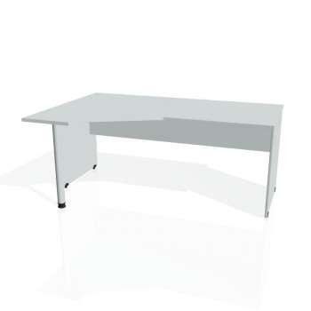 Psací stůl Hobis GATE GEV 1800 pravý, šedá/šedá