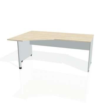 Psací stůl Hobis GATE GEV 1800 pravý, akát/šedá