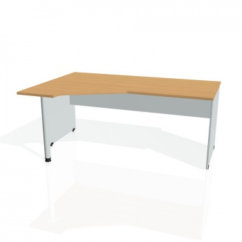 Psací stůl Hobis GATE GEV 1800 pravý, buk/šedá