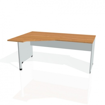 Psací stůl Hobis GATE GEV 1800 pravý, olše/šedá