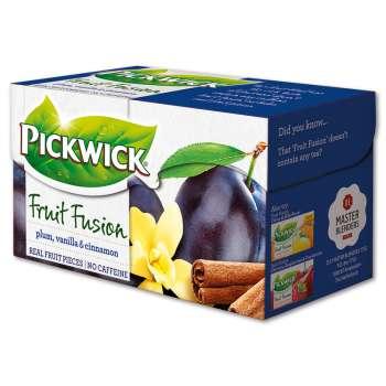 Čaj Pickwick Fruit Garden - Švestky s vanilkou a se skořicí, 20 x 2 g
