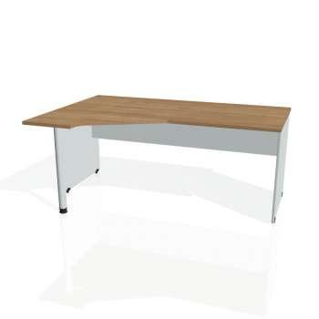 Psací stůl Hobis GATE GEV 1800 pravý, višeň/šedá