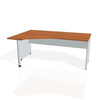 Psací stůl Hobis GATE GEV 1800 pravý, třešeň/šedá