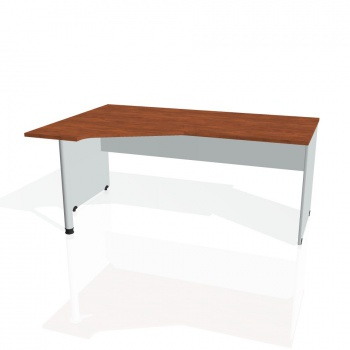 Psací stůl Hobis GATE GEV 1800 pravý, calvados/šedá