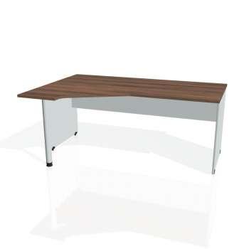 Psací stůl Hobis GATE GEV 1800 pravý, ořech/šedá