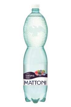 Ochucená minerální voda Mattoni - lesní plody, 6x 1,5 l,  perlivá