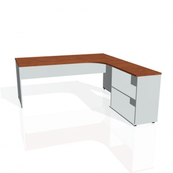 Psací stůl Hobis GATE GE 1800 H levý, calvados/šedá