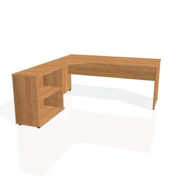 Psací stůl Hobis GATE GE 1800 H pravý, olše/olše