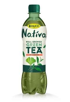 Ledový čaj Nativa - zelený s Ginkgo, 12 x 0,5 l