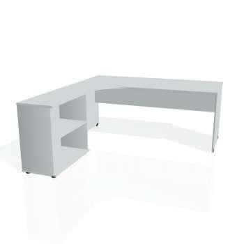 Psací stůl Hobis GATE GE 1800 H pravý, šedá/šedá