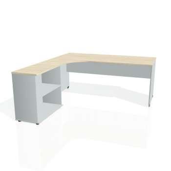 Psací stůl Hobis GATE GE 1800 H pravý, akát/šedá