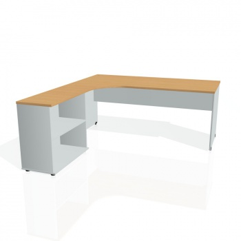 Psací stůl Hobis GATE GE 1800 H pravý, buk/šedá