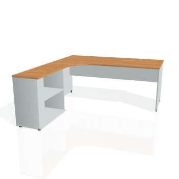 Psací stůl Hobis GATE GE 1800 H pravý, olše/šedá