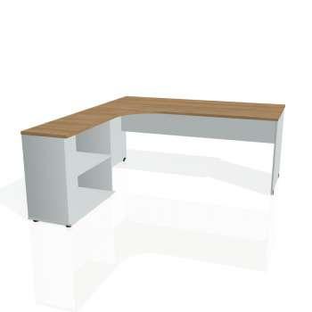 Psací stůl Hobis GATE GE 1800 H pravý, višeň/šedá